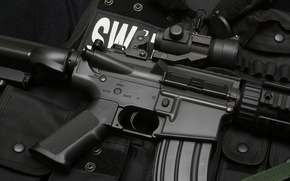 Picture weapons, machine, rifle, vest, SWAT