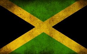 Picture flag, dirt, Jamaica
