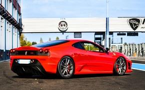 Picture red, Ferrari, red, Ferrari, track, f430, track, back, F430, the Scuderia, scuderia