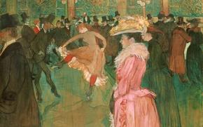 Picture people, picture, cabaret, genre, Dance at the Moulin Rouge, Henri de Toulouse-Lautrec
