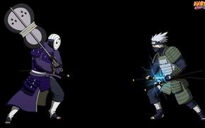 Picture sword, game, Naruto, anime, katana, battle, samurai, asian, Sharingan, mask, Uchiha, armour, manga, Kakashi, Hatake, …