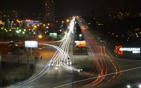Picture Russia, night city, night city, the screensaver on the computer, Wallpaper Vladikavkaz, Vladikavkaz night, dark …