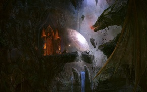 Wallpaper battle, protection, Dragon, MAG