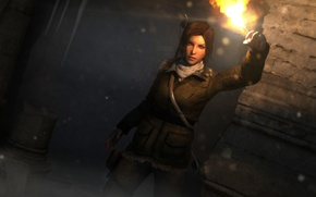 Picture girl, torch, lara croft, tomb raider, Rise of the Tomb Raider