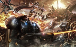 Wallpaper starcraft, diablo, warcraft, Jim Raynor, Thrall, Heroes of the Storm, Stitches, Brightwingt