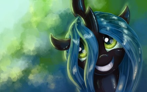 Picture author, pony, smiling, My little pony, KP-ShadowSquirrel, Chrysalis