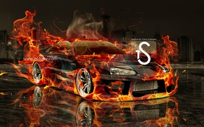 Picture Toyota, Fire, Speed, Supra, el Tony Cars