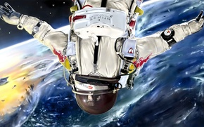 Picture space, planet, the atmosphere, the suit, art, male, astronaut, Julian Celaj