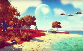Picture Planet, Ship, Game, No Man's Sky, Hello Games