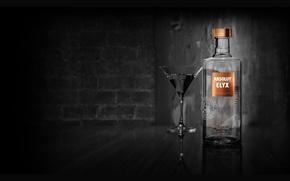 Picture glass, bottle, alcohol, absolute, vodka, ABSOLUT, alcohol, 2000x1000, VODKA
