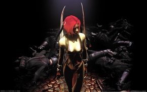 Picture soldiers, corpses, bloodrayne, Rhine, rayne, bloodrain