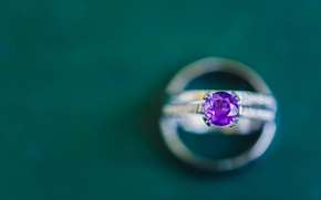 Picture purple, lilac, stone, ring