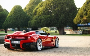Picture red, stylish, reflection., Ferrari F12 TRS