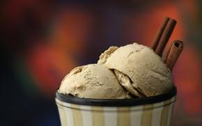 Picture food, ice cream, cinnamon