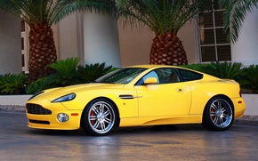 Picture Aston Martin, V12, Yellow, Vanquish