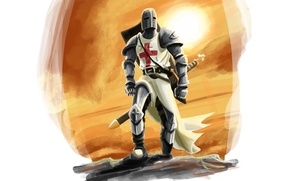 Wallpaper Templar, cross, weapons