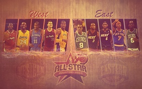 Picture Basketball, All Star, NBA, LeBron James, Kobe Bryant, Kevin Durant, Famous Stars Dwayne Wade, Kevin …