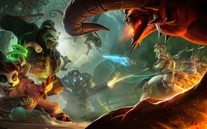 Wallpaper girl, Panda, Warcraft, diablo, chen, Sylvanas, Heroes of the Storm, Brightwing, Tychus more, Li Li, ...