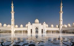 Wallpaper Abu Dhabi, The Sheikh Zayed Grand mosque, UAE, Grand mosque