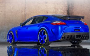 Picture Mansory, tuning, blue, back, Panamera, Porsche, car, auto, Porsche, Turbo