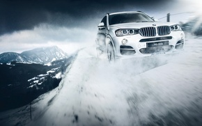 Picture BMW, Snow, White, Rigshot, Alpina, Bi-Turbo, XD3