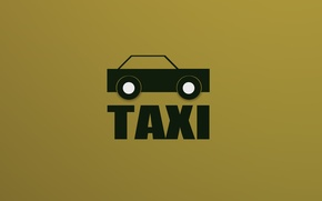 Picture minimalism, taxi, TAXI