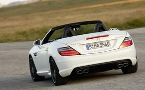Picture Machine, White, Mercedes, SLK 55 AMG