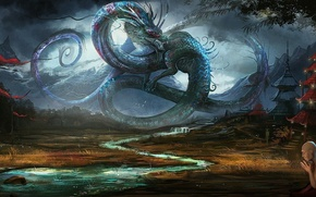 Picture fiction, dragon, China, figure