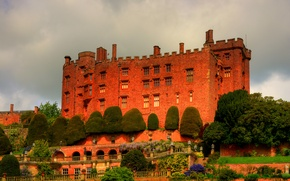 Picture trees, castle, England, the bushes, Wales, Powis Castle