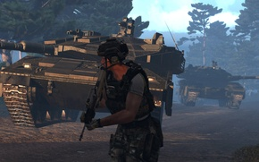 Wallpaper Merkava 4, Arma 3, multicam, soldiers, army, Greece