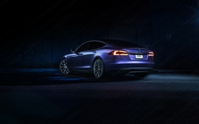 Picture Purple, California, Tesla, Matte, Rear, P85D, SS Customs, Drank, Grape, Eletric