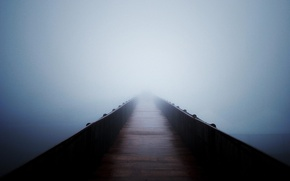 Picture void, bridge, fog, serenity, the unknown
