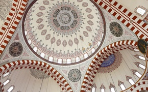 Picture mosque, ornament, the dome, painting, Istanbul, Islam, istanbul, Sehzade, The Şehzade Mosque