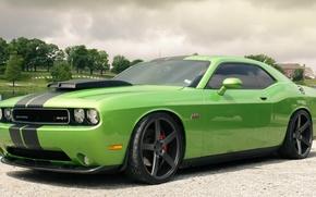 Picture Clouds, Park, Dodge, SRT8, Challenger