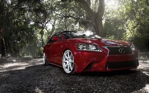 Picture Lexus, Red, Sport, GS F, VMB8, Matte Silver, Velgen