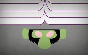 Picture minimalism, blo0p, Mojo Jojo, Powerpuff Girls