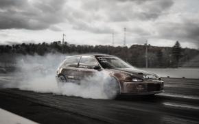 Picture drift, Honda, civic, drag