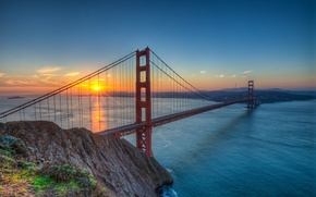 Picture usa, golden gate bridge, sun francisco