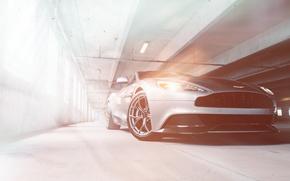 Picture Aston Martin, silver, Aston Martin, front, silvery, Vanquish, vankvish, William Stern