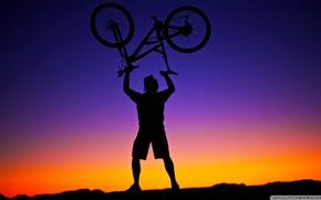 Picture bike, victory, triumph