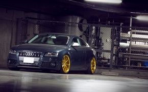 Picture Audi, grey, tuning