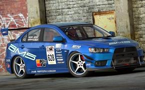Picture Mitsubishi, Evo X, Lancer, Car, Race, Car, Lancer, Racing, Mitsubishi, by Dangeruss, Time Attack