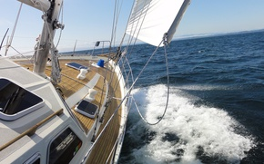 Picture sea, the way, the wind, yacht, sail