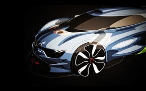 Picture Concept, art, Renault, twilight, Reno, art, the front, sketch, rendering, Alpine, Alpine, A110-50