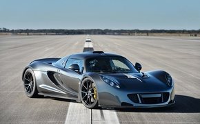Picture background, horizon, supercar, the front, Hennessey, Venom GT, Hennessy, Venom GT, World Speed Record