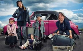 Picture children, girls, humor, family, moving
