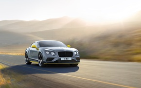 Picture light, speed, Bentley, Continental, light, car, Speed, Black Edition