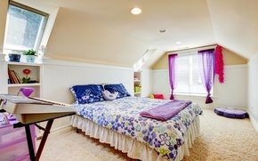Picture comfort, room, carpet, plants, pillow, window, bed, pots