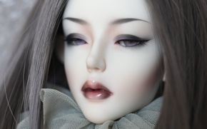 Picture eyes, girl, hair, doll, lips, doll, BJD