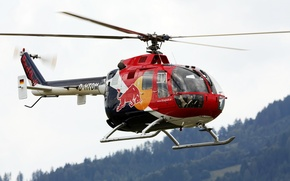 Wallpaper helicopter, multipurpose, and percussion, MBB Bo 105